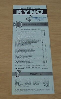 """1964 'Instant HIT Parade' """"KYNO FRESNO"""" Rock n Roll RADIO Station~TOP 30 Songs~"""