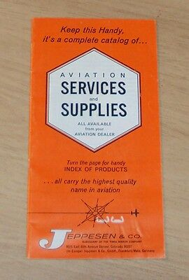 "1967 Brochure/Catalog~""AVIATION SERVICES and SUPPLIES""~Jeppesen & Co~"