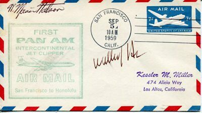 William J. Henderson & W. Marvin Watson US Postmaster General Rare Signed FDC