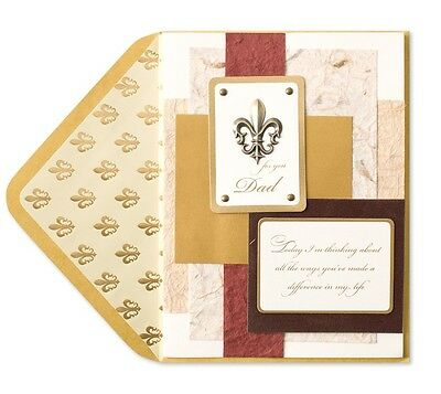e7c272cb14e433 Papyrus Fleur De Lis Collage Thank You Dad Happy Father s Day Card