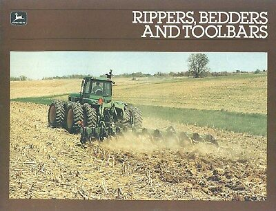 1986 John Deere RIPPERS BEDDERS AND TOOLBARS Dealer Catalog Brochure 15 Pages