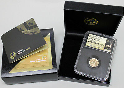 2017 South Africa 50th Anniversary 1/10oz Gold Krugerrand NGC PF70 Ultra Cameo
