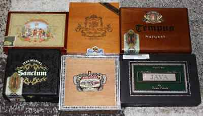 Mixed Cigar Boxes (EMPTY - Lot of 6)