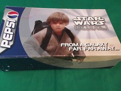 Star Wars Pepsi EP 1 Promotional Sample Can Display - boxed set of 4 Awesome