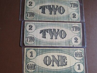 Odd Lot of 7 Domestic Currency or Banknotes or Coupons! Worth a Look!