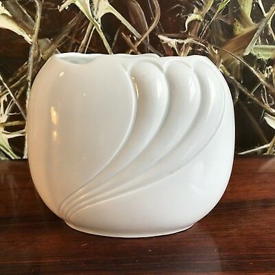 Royal KPM Germany, Fine Oval Vase, White Porcelain - Handmade