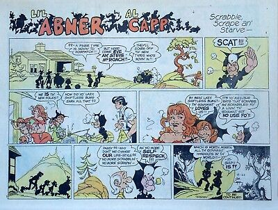 Li'l Abner by Al Capp - large half-page color Sunday comic - September 22, 1974