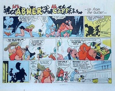 Li'l Abner by Al Capp - large half-page color Sunday comic - October 27, 1974