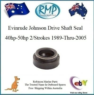A New Evinrude Johnson Drive Shaft Oil Seal 40hp-50hp 1989-Thru-2005 # 342786