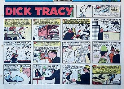 Dick Tracy by Chester Gould - large half-page color Sunday comic - Jan. 15, 1967
