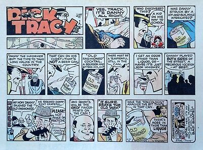Dick Tracy by Chester Gould - large half-page color Sunday comic - Dec. 29, 1974