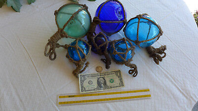 Japanese Glass Art Fishing Floats Vintage Fish Nautical Decor Balls Vintage lot