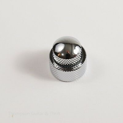 Chrome Stacked Dual Control Audio Knob Concentric Set 3mm
