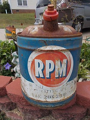 Vintage RPM 5 Gallon Can.  Sold by the California Oil Co, Barber, N.J. (READ)