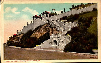 Postcard Tower on West Terrace Kansas City Missouri Unused