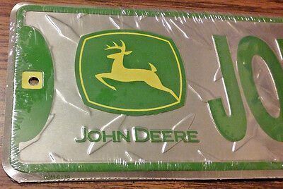 John Deere Metal Road Sign Embossed Diamond Design Long Street Sign Licensed NEW