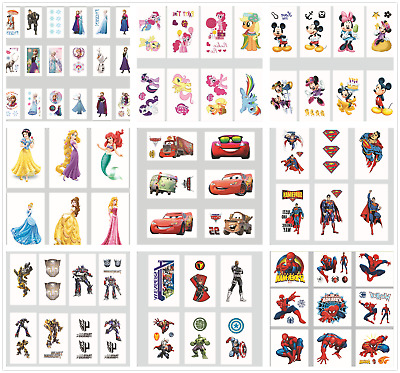 Childrens Boys Girls Kids Temporary Tattoos Kids Loot Party Bag Fillers Stickers