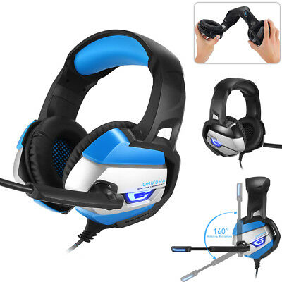 Gaming Headset Gamer Headphone Earphone for Computer Laptop PS4 with Microphone