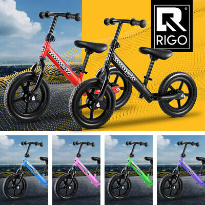 "RIGO Kids Balance Bike Ride On Toys Puch Bicycle Wheels Toddler Baby 12"" Bikes"