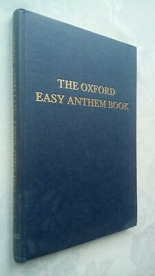 The Oxford Easy Anthem  Book H/B 1960 Composers Seasons Occasions
