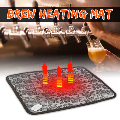 Home Brew Heating Electric Heater Mat Pad For Wine Beer Fermentation Pall Keg