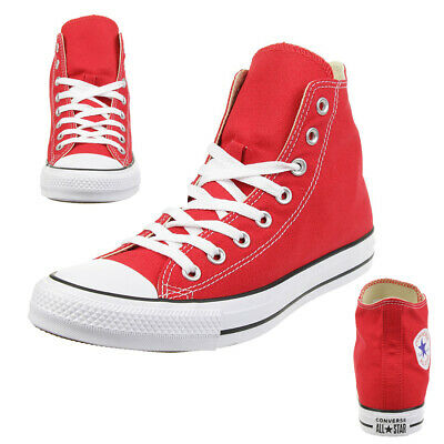 94755737a7bad Converse C Taylor All Star Hi Chuck Chaussures Baskets en Toile Rouge M9621C