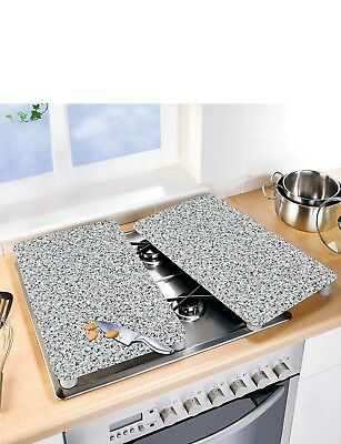Set Of 2 Universal Hob Covers Chopping Board Work Surface