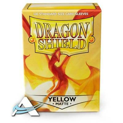 100 Bustine Protettive Standard Size Sleeves DRAGON SHIELD •  Matte • Giallo
