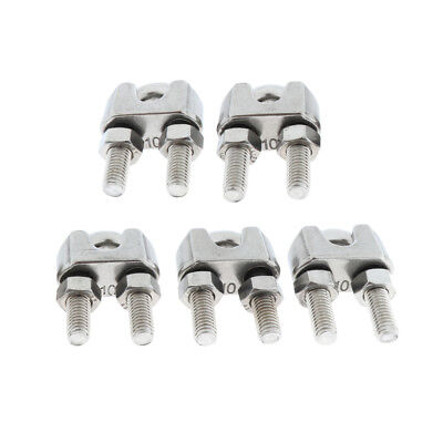 5pcs/lot Stainless U-Shape Bolts Saddle Clamps Cable Clips for Wire Rope