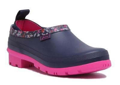 Joules Pop Ons Slip On Wellies Women Rubber French Navy Squirrel Ditsy Welly Clo