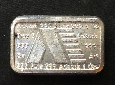1981 A-Mark Commercial Poured Silver Ingot One Ounce .999 A3361