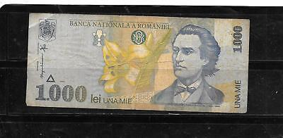 Romania #106 1998 1000 Lei Vg Used Old Banknote Paper Money Currency Bill Note