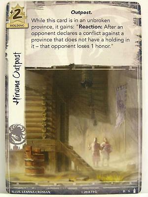 Legend of the Five Rings LCG - 1x #005 Hiruma Outpost - Breath of the Kami