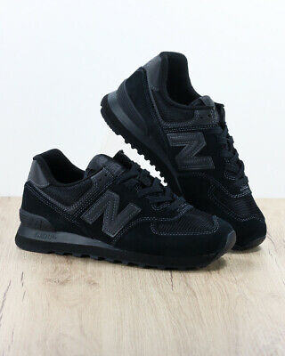 New Balance ML 574 Sneakers Shoes Sport lifestyle Black suede, mesh