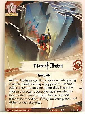 Legend of the Five Rings LCG - 1x #020 Maze of Illusion - Breath of the Kami