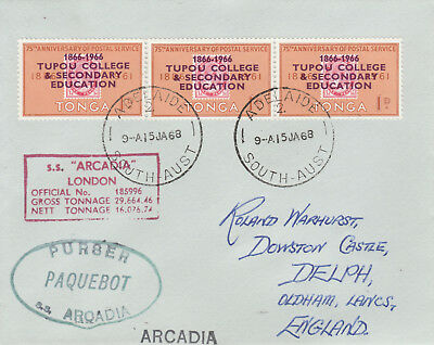 Tonga 4470 - Used in ADELAIDE, S AUSTRALIA 1 968  PAQUEBOT cover to UK