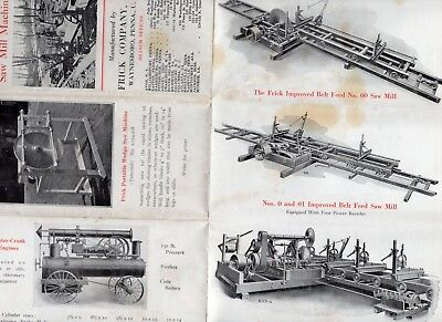 Vintage Frick Saw Mill Machinery, Farm Tractors, Threshers brochure