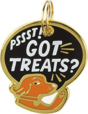 """Dog Collar Charm """" PSSST!  GOT TREATS ? """" Dogs Pets Collar Tag  ID Gift Gifts"""