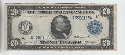 Federal Reserve Note $20 1914 Boston nice vf plus