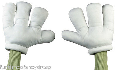 Mickey Mouse Cartoon Character Over Sized White Gloves Hands Fancy Dress