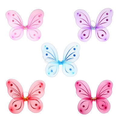 Girls Fairy Butterfly Wing Children Birthday Party Fancy Dress Up