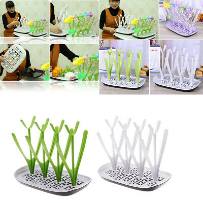 Baby Bottle Drying Rack Countertop for Babies Bottle Drainer Dryer Cleaning