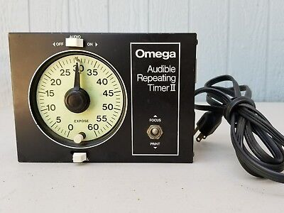 Omega Audible Repeating Timer II Clean and Tested Glow in Dark Face