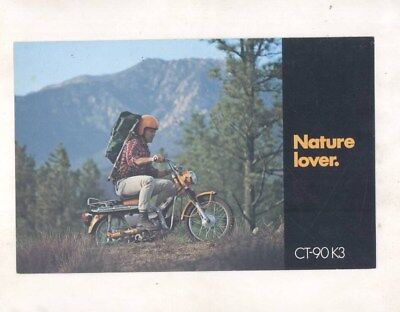 1972 Honda US Trail 90 CT90 K3 Motorcycle Brochure wz4669