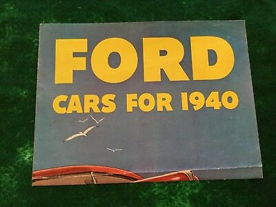 Lot 9 # Brochure Ford Cars For 1940 Good Condition