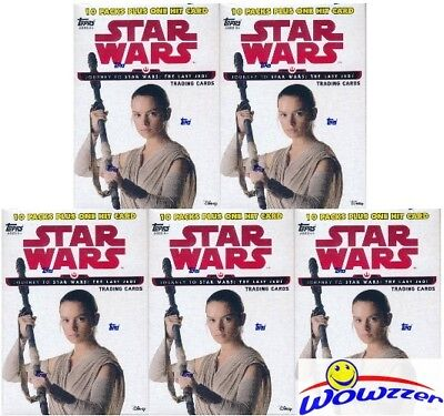 (5) 2017 Topps Journey to Star Wars: The Last Jedi EXCLUSIVE Blaster Box-5 HITS!