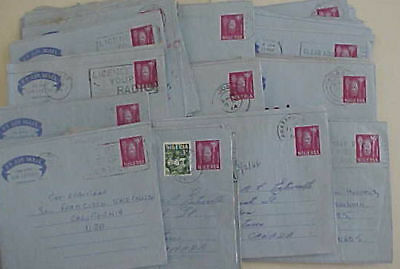 NIGERIA  50 AIR LETTERS 1960's MOSTLY TO USA