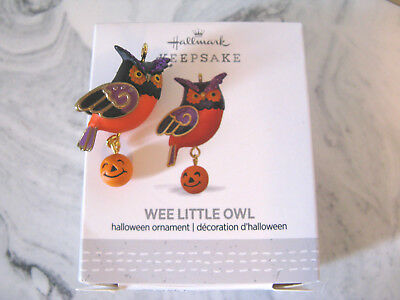 2017 Hallmark Halloween Miniature Mini Ornament Wee Little Owl Bird