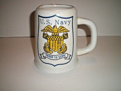 U. S. NAVY; PROUD TO SERVE, naval MUSICAL MUG~STEIN SONG: Anchors Away~REDUCED!