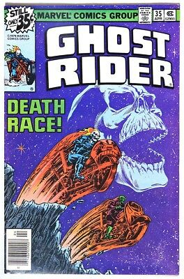 S970. GHOST RIDER #35 by Marvel 6.0 FN (1979) CLASSIC GHOST RIDER RACING DEATH `